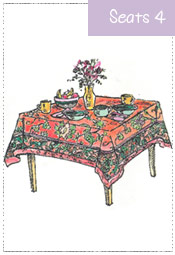 Breakfast Tablecloth 54x54