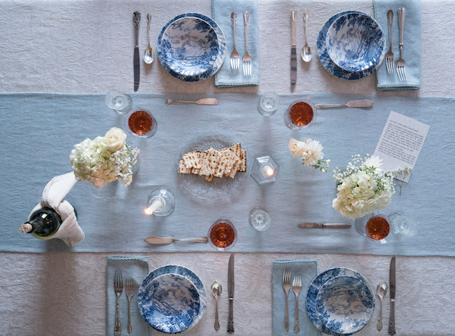 Simple Seder Table